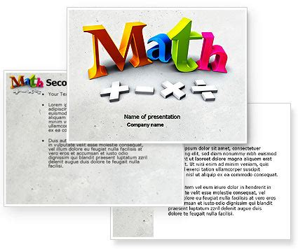 math addition powerpoint template backgrounds 04501