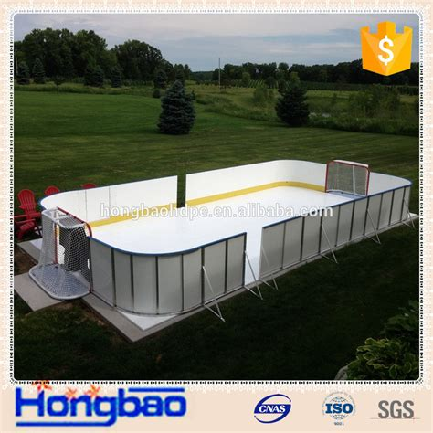 synthetic rink hockey shooting pad backyard rink