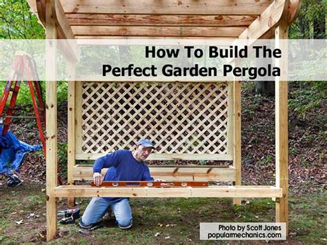 how to build your own pergola how to build the garden pergola