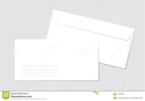 printable envelope vector two paper white envelopes with lines for address stock
