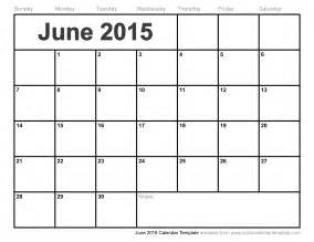 2015 Printable Calendar Template by June 2015 Calendar Printable Blank Calendar Template