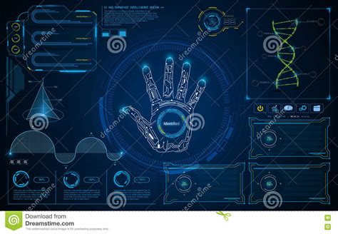 abstract background vector stock vector illustration of concepts 4369246 abstract smart intelligent ui hud interface screen future concept background stock vector