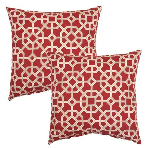 Home Depot Pillows by Hton Bay Chili Matrix Square Outdoor Throw Pillow 2