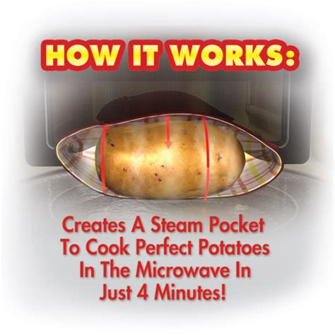 tv potato potato express microwave potato cooker as seen on tv cooks