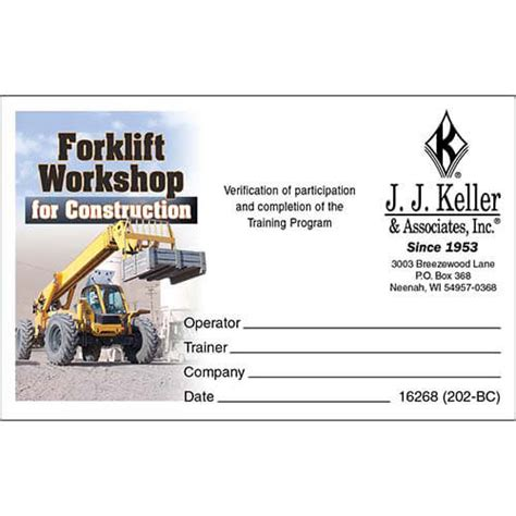 Forklift Operator Certification Card Template by Forklift Certification Card Template Best And Various
