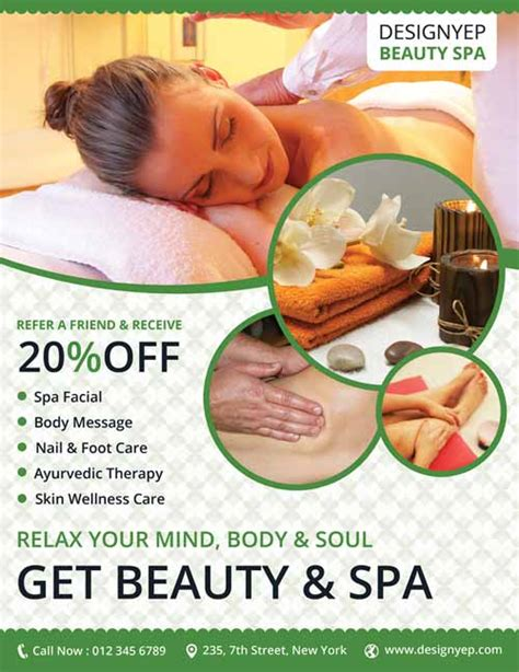 Freepsdflyer Download Beauty Spa Free Flyer Psd Template Spa Flyer Templates Free