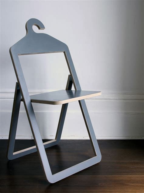flat pack folding chair hanger chair flips folds up for suspended storage