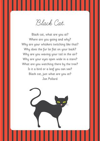 black cat poem eyfs and ks1 free early years amp primary