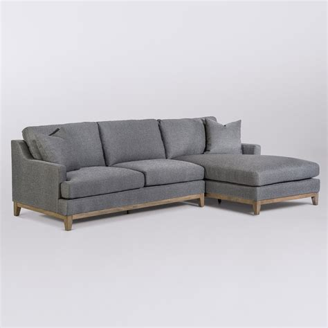 right arm facing sectional grant sectional right arm facing alder tweed furniture
