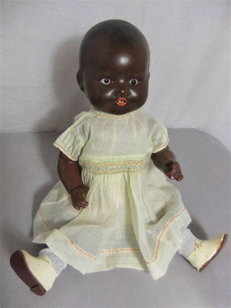 1930s bisque doll antique 1930 s bnd 16 bisque black infant doll