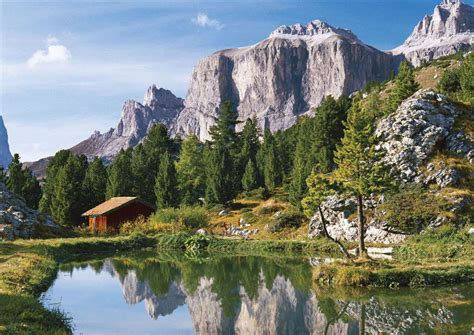 crystal river boat rs ravensburger jigsaw puzzle the dolomites puzzel item 163427