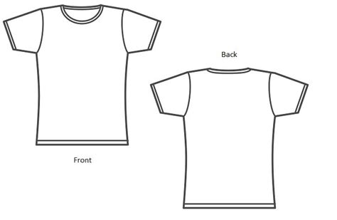 t shirt front and back template joy studio design