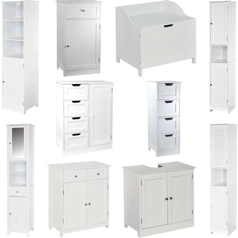 white freestanding bathroom storage freestanding bathroom cabinet white vanity storage mirror