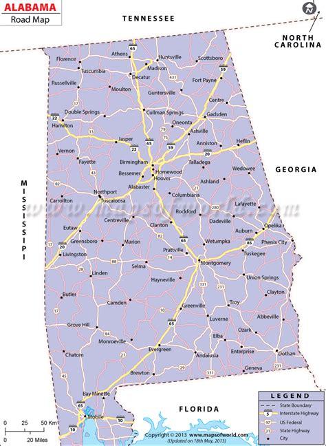 road map of alabama usa alabama road map alabama highways map alabama interstates