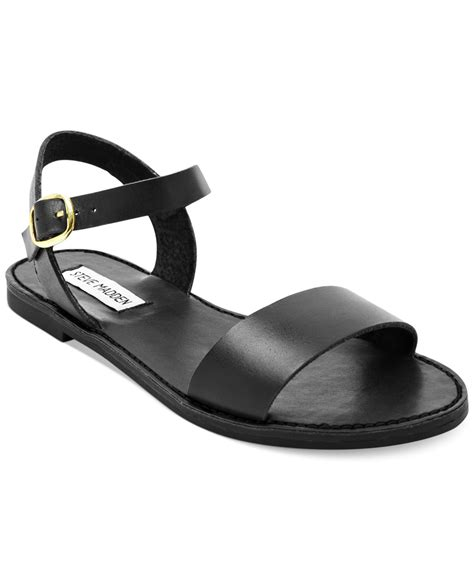 Steve Madden Donddi Flat Sandals by Steve Madden Donddi Flat Sandals In Black Lyst