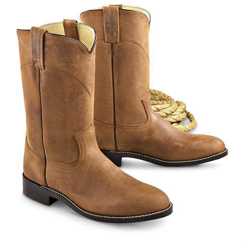 mens roper cowboy boots s dan post 174 leather roper boots 139653 cowboy
