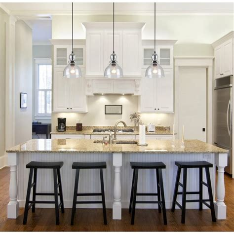 single pendant light kitchen island fixture height