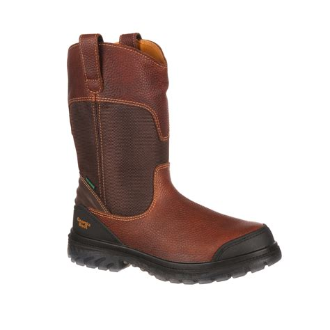 drag boots zero drag waterproof steel toe pull on work boot