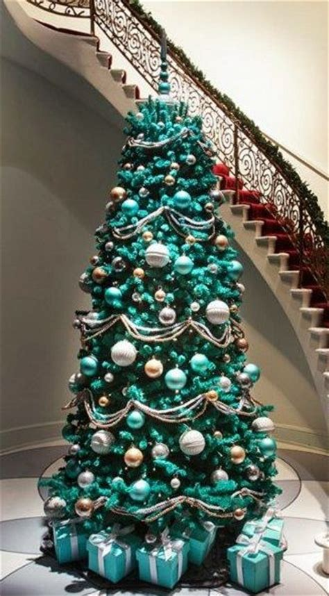 turquoise christmas tree for the home pinterest