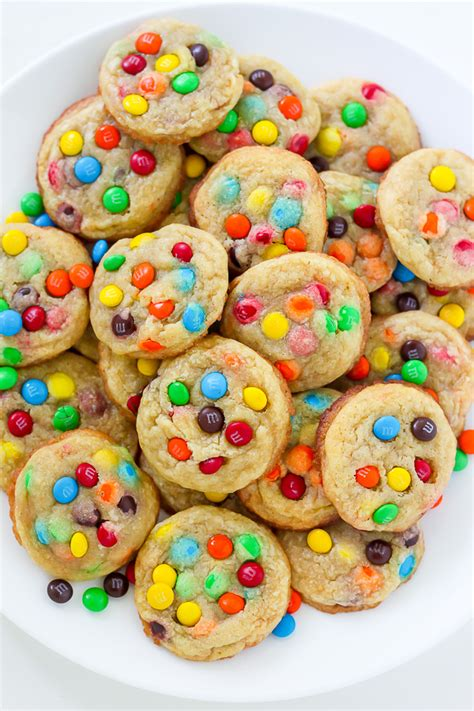 colorful cookies m m cookie bites baker by nature