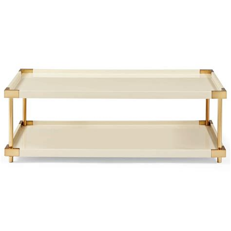 Ivory Coffee Table Regency Ivory Lacquer Brass Coffee Table Kathy Kuo Home