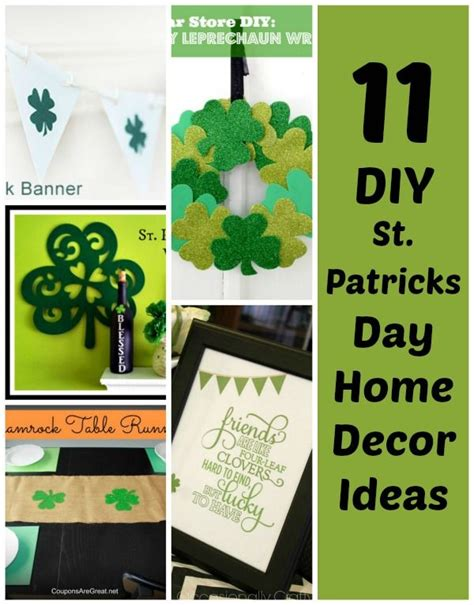st patrick s day home decorations 11 diy st patrick s day decorations for your home patrick o brian crafts and home