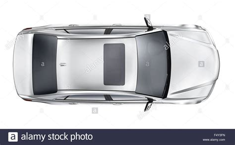 vehicle top view silver car top view stock photo 89105961 alamy