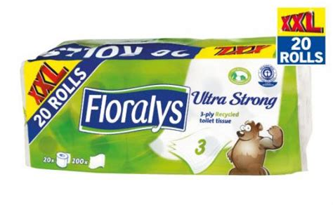Toilet Paper Lidl by Floralys Ultra Strong Toilet Tissue 3 Ply 20 Rolls Now 163