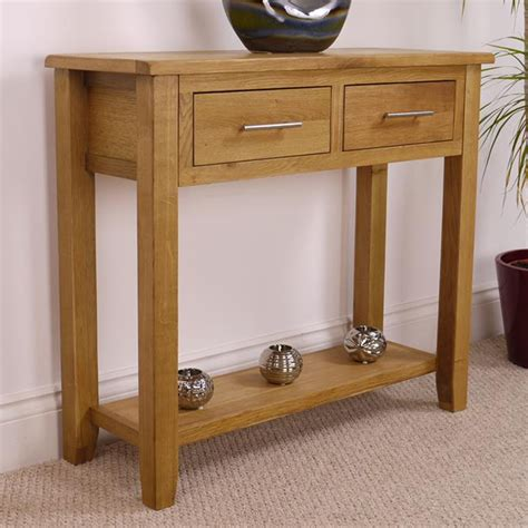 solid wood console table with drawers nebraska oak console table with shelf solid wood drawer
