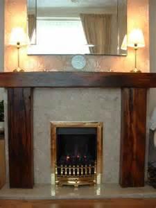 donna egan s fireplace with railway sleepers