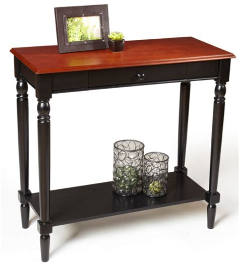 Cherry Foyer Table country cherry black wood foyer entry table ebay