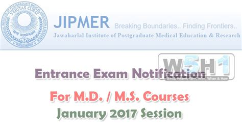 Anu Mba 2nd Sem Results 2017 by Jipmer 2017 Notification Md Ms Admissions Application