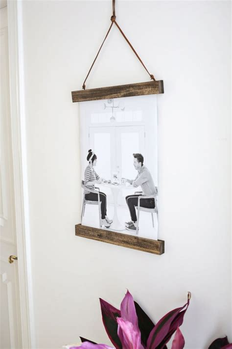 Hanger Diy - easy diy poster hanger for your photos shelterness