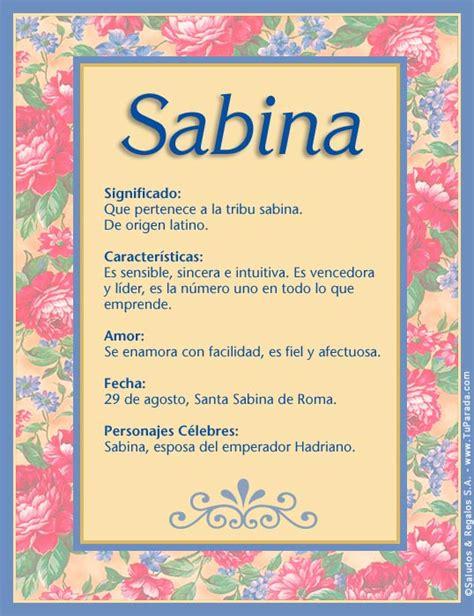 Offer Letter O Que Significa Sabina Significado Nombre Sabina Nombres