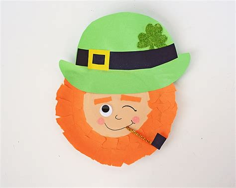 printable leprechaun mask paper plate masks 62 creative ideas guide patterns