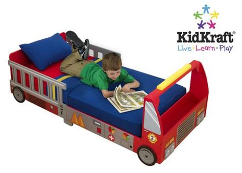 fire engine toddler bed kidkraft fire truck toddler bed walmart ca