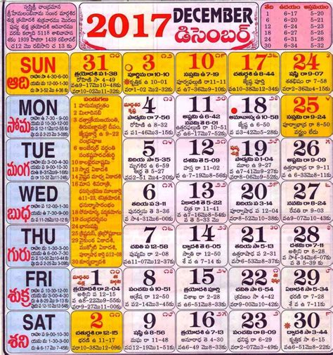 Calendar 2017 December Telugu Telugu Calendar 2017 Freega Cheyyandi