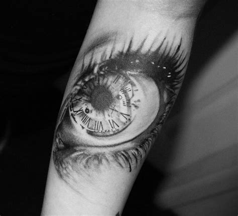 tattoo eye with clock clock eye tattoo leave a print on me pinterest