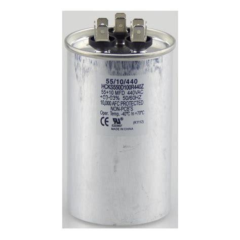 motor run capacitor 15 mfd tradepro 440 volt 15 5 mfd dual motor run capacitor tpr155440 the home depot