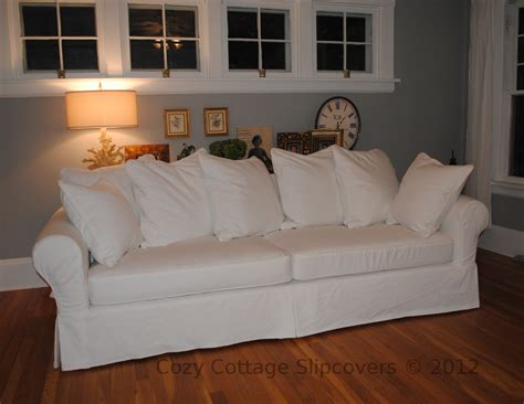 slipcovers for pillow back sofas cozy cottage slipcovers pillow back sofa slipcover