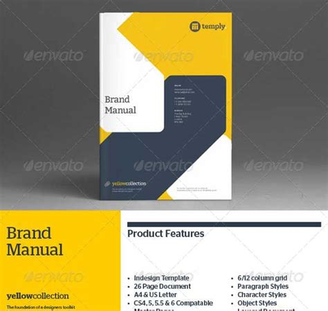 30 Best Premium Printed Brochure Templates Designmaz Brand Manual Template Free