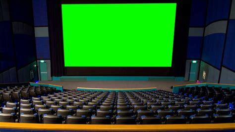 cinema theater hall  green screen  stock footage