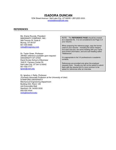 reference template for resume example in sample with examples of