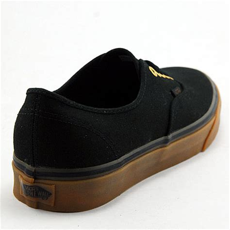 Unisex Black Rubber vans authentic unisex shoes black rubber in stock at