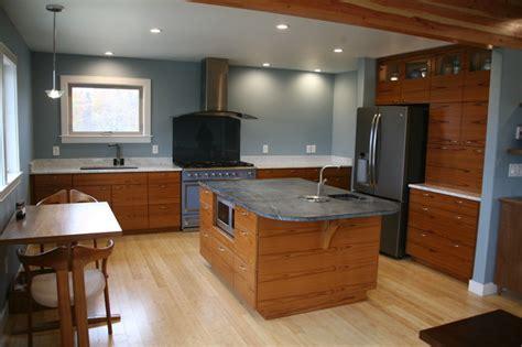 Teak Kitchen Cabinets by Teak Kitchen Horizontal Grain Modern Kitchen New