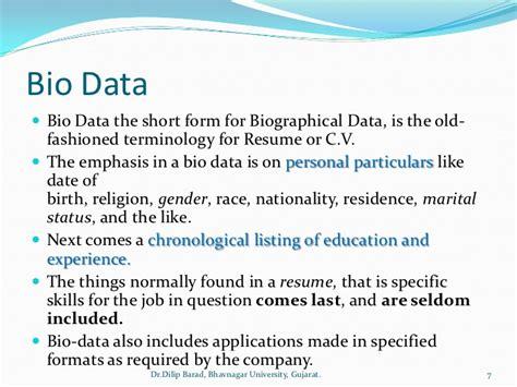 Resume Cv And Biodata Cv Resume Nisan 2015