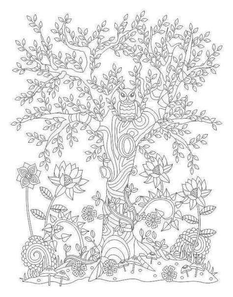 Kaos Print Magic Tree M 408 best colouring trees leaves landscapes