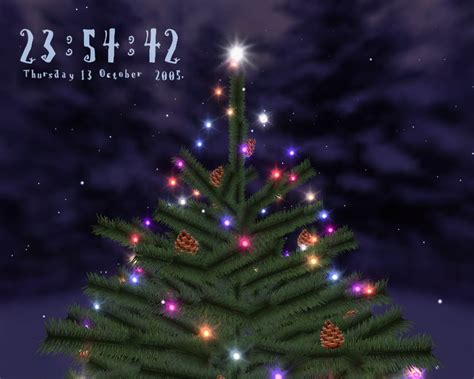 3d christmas tree screensaver screenshot page