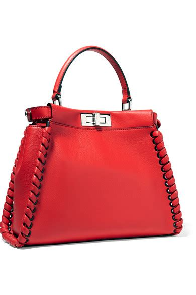 Whips Out The Fendi Purse Again by Fendi Peekaboo Medium Whipstitched Leather Tote Net A