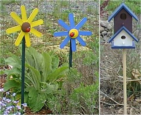 Garden Stakes Decor Flower Garden Stakes Craft Idea Outdoors Pinterest